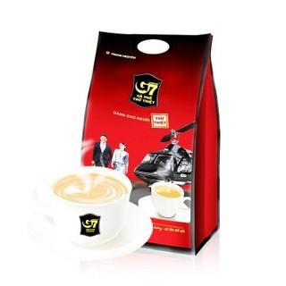 越南进口 中原G7三合一速溶咖啡1600g(16克*100条)越南本土越文版包装 *3件
