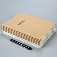 欣颂 牛皮纸笔记本记 B5 10本装