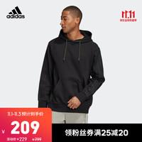 阿迪达斯官网adidas三叶草WNTRZD HOODIE男装套头衫GD0011GD0010 黑色 XS(参考身高:167~172CM)