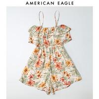 AEO女士新款吊带一字领中腰清新连衣裙 American Eagle1399_5194