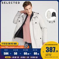 预售SELECTED思莱德两件套连帽保暖风衣棉服外套男S|420122504Y