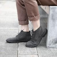 磨砂牛皮商务休闲靴