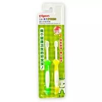 pigeon 贝亲 10852 婴儿训练牙刷 绿色+黄色 +凑单品