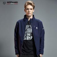 诺诗兰新款软壳衣户外男士保暖舒适休闲外套GF065905