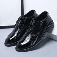 京东PLUS会员 : 新款男士休闲皮鞋英伦商务系带男鞋子青年正装鞋简约百搭黑色工作 3308黑色 38