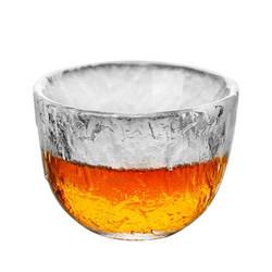 kavar 米良品 手工初雪锤纹日式茶杯 4只装