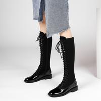 预售:圆头时尚通勤骑士靴工装靴