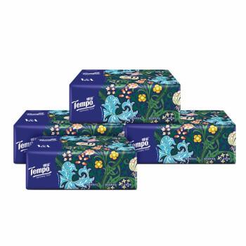 京东PLUS会员:Tempo 得宝 莫里斯花园艺术系列 抽纸 4层*90抽*4包(160mm*195mm) *4件