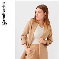 Stradivarius 斯特拉迪瓦里斯 01900489450 女士条纹宽松西装外套