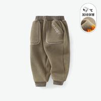 SNOOPY 冬新款加厚双面奥利绒保暖男童加绒长裤儿童裤子