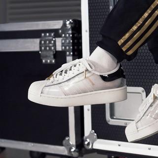 adidas Originals Superstar 女士休闲运动鞋 FV3361 白/汉玉白/一号黑 37