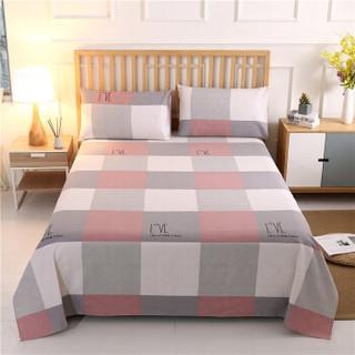 柚寝 全棉老粗布凉席床单三件套 120*230cm