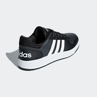 adidas NEO hoops 2.0 男士休闲运动鞋 B44699  黑/白 41