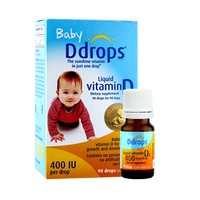 Baby Ddrops 婴儿复合维生素D3滴剂 400IU 90滴*2瓶