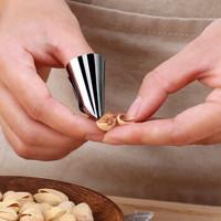 优斯哲 创意不锈钢剥皮切菜护手器 3个装