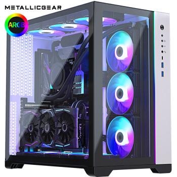 MG普力魔 620Q全景钢化玻璃ARGB灯 双系统水冷电竞台式机游戏电脑机箱 竖装显卡 620Q白色