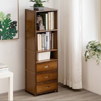 木马人 客厅落地实木小书柜 小号