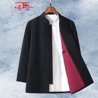 杰雅JIEYA唐装男士上衣中国风外套秋冬装爸爸款中老年中山立领中式复古