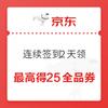 京东 11.11 全球热爱季 最高得25元全品类券