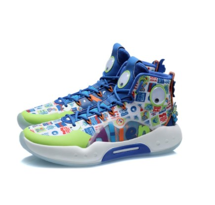 LI-NING 李宁 驭帅系列 男士篮球鞋 ABAQ135-7 标准白/苍蓝色 39