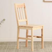 家逸 实木椅子餐椅 原木色-单把