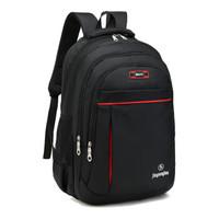 工厂直供 双肩包男士初高中背包新款大容量休闲商务旅行电脑包学生书包可放14寸笔记本 1859黑