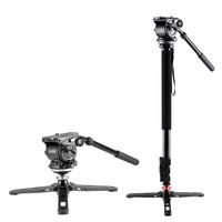 伟峰 WEIFENG WF-500S 铝合金专业摄像机独脚架液压阻尼云台摄影DV单反相机支架