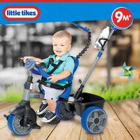 littletikes小泰克4合1多功能儿童脚踏三轮手推车子遛带娃骑行车