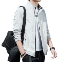 Nan ji ren 南极人 男士纯色立领长袖夹克外套b2-SY-Z9877 卡其M