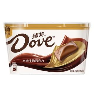 京东PLUS会员 : Dove德芙 丝滑牛奶巧克力 碗装 252g *2件