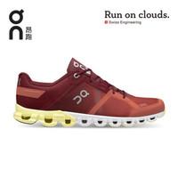 On昂跑 新一代训练型轻量减震防滑男款跑鞋 Cloudflow 费德勒同款 Rust/Limelight 铁锈红/柠檬黄 42 US(M8.5)