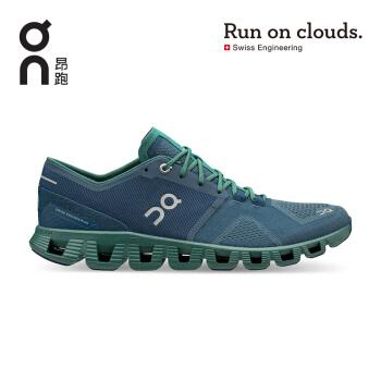 On昂跑 2020秋季轻量透气减震回弹稳定男款多功能运动鞋 新一代Cloud X Storm/Tide  风暴蓝/涌绿 42 US(M8.5)