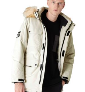 C&A  男士毛领连帽短款羽绒服200230539-1 米色M