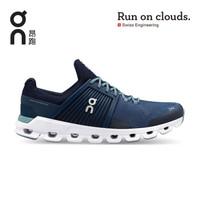 On昂跑 耐久稳定男款轻量透气路跑鞋 Cloudswift Denim/Midnight 牛津蓝/午夜黑 44 US(M10)