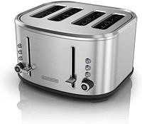 BLACK & DECKER 不锈钢 四槽 面包烘烤机