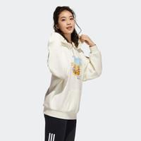 阿迪达斯官网 adidas neo 蛋黄哥联名女装运动连帽卫衣GU0865 汉玉白/汉玉白 A/S(160/84A)