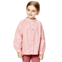 Purcotton 全棉时代 女童灯芯绒衬衣 棉柔粉 100cm