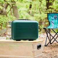 【现货秒发】星巴克行李箱户外迷你10寸粉色绿色可爱收纳手提箱 绿色