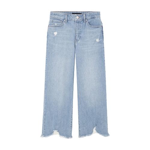 UNIQLO 优衣库 425516 高腰宽腿七分牛仔裤