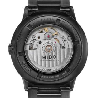MIDO 美度 指挥官系列 M021.407.33.411.00 40mm 男士机械手表 灰盘 PVD镀黑不锈钢带 圆形
