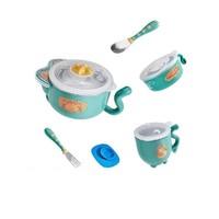 苏宁SUPER会员 : babycare 婴儿注水保温餐具 5件套