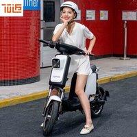 70迈智能电动车小爱同学骑行导航行车记录拍照防盗定位人车互动电动自行车摩托车A1 Pro 珠光白