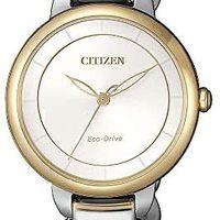 Citizen 西铁城 女士指针式石英手表不锈钢表带 EM0674-81A