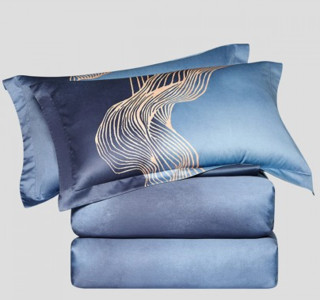 LOVO 乐蜗家纺 新疆棉100支高支轻奢全棉床上套件被套床单床上用品纯棉四件套