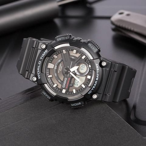 考拉海购黑卡会员:CASIO 卡西欧 运动系列 AEQ-110W-1A 男士石英手表