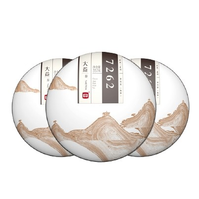TAETEA 大益 普洱茶 7262熟茶 357g*3饼组合 1401批次
