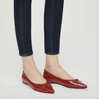 网易严选 3986515 女式牛漆皮芭蕾平底鞋 *2件