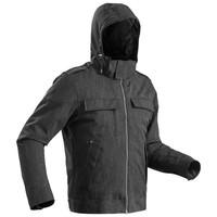 男式雪地徒步防水保暖夹克-碳灰色丨SH500 X-Warm Quechua - 迪卡侬