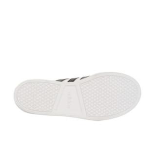 adidas 阿迪达斯 VS SET 男士休闲运动鞋 BC0130 黑白/金标
