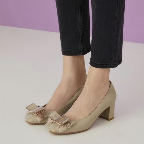 le saunda AT60203 女士粗跟浅口单鞋